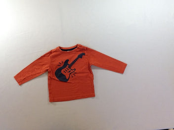 T-shirt m.l brique guitare