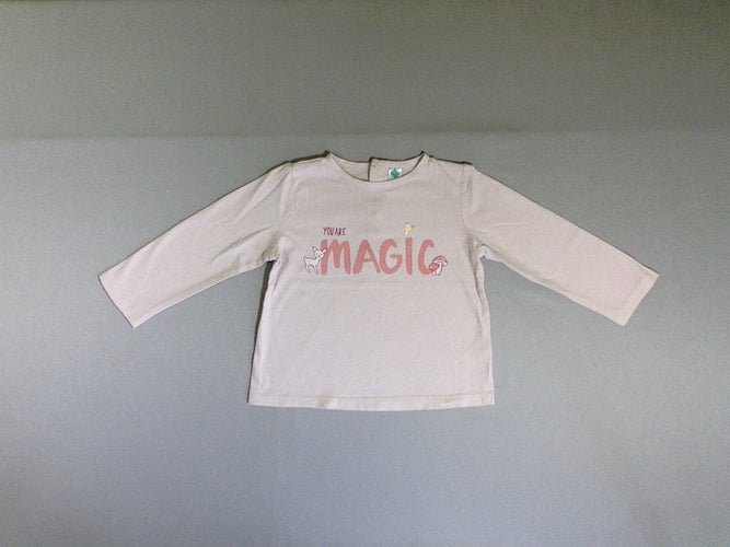T-shirt m.l rose pâle you are magic, moins cher chez Petit Kiwi