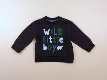 Sweat bleu marine « Wild little boy »