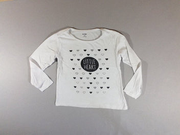 T-shirt m.l blanc little heart