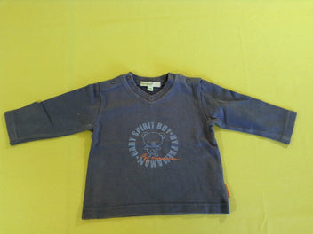 Sweat bleu col V