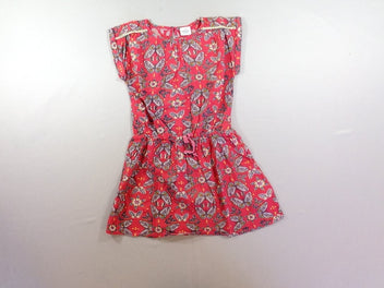 Robe m.c rose papillons