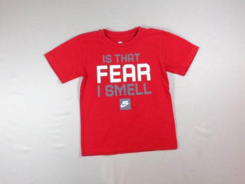 T-shirt m.c rouge Fear, bouloché