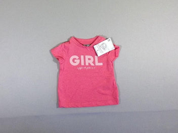 NEUF T-shirt m.c rose Girl