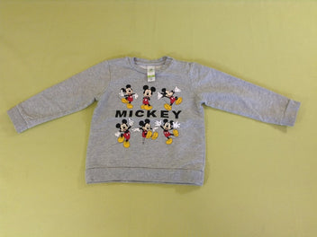 Sweat gris chiné Mickey