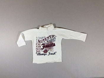 T-shirt col roulé blanc Autentic