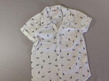 Chemise m.c blanche cactus voitures ananas