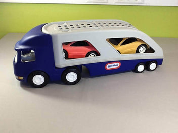 Grand camion de transport avec deux voitures, Little Tikes