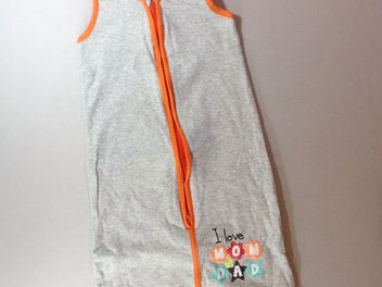 Sac de couchage s.m jersey gris chiné/orange Mom & Dad