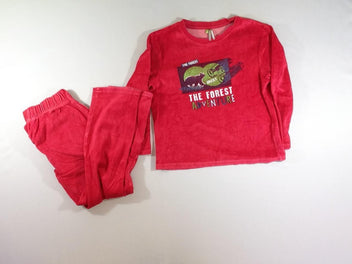 Pyjama 2pcs velours rouge Forest