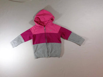 Sweat zippé à capuche rose Nike
