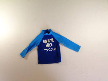 T-shirt m.l bleu anti-uv Beach