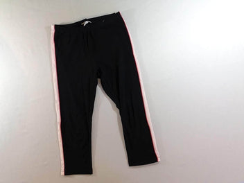 Legging court noir/rose