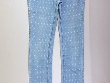 Pantalon denim motifs