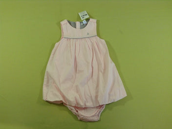 NEUF Robe boule s.m rose clair + culotte