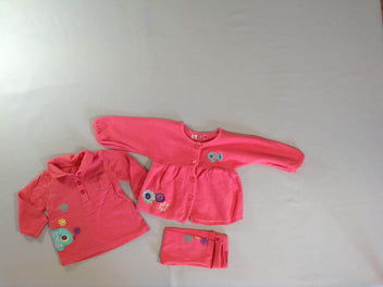 Gilet corail poisson + polo m.l + legging