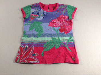 T-shirt m.c rose multicolore sequis
