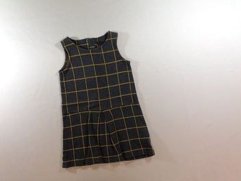 Robe s.m gris chiné à carreaux jaune