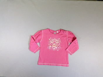 T-shirt m.l rose fille guitare