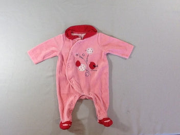 Pyjama velours rose/rouge