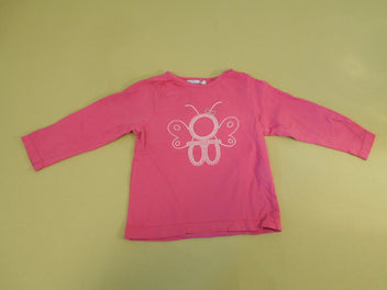 T-shirt m.l rose papillon Obaibi