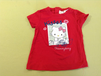 T-shirt m.c rouge Charming Kitty