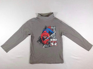 T-shirt col roulé gris Spiderman