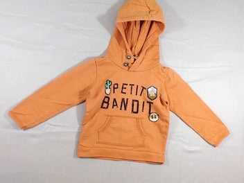Sweat à capuche orange « Petit Bandit »