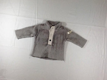 Pull peluche gris