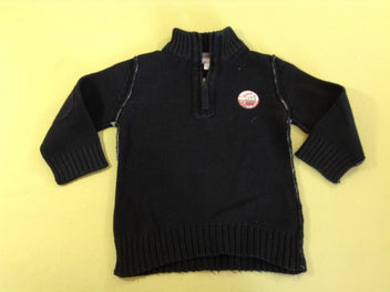 Pull noir col montant 1995