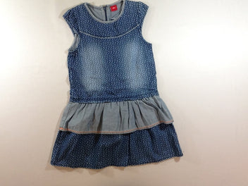 Robe m.c denim pois