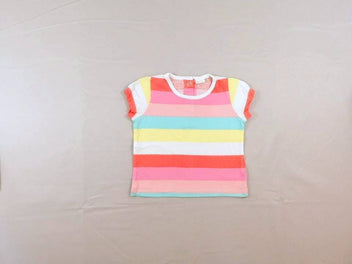 T-shirt m.c rayé multicolore