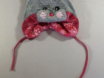 Bonnet velours gris/rose souris, Sterntaler