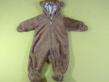 Combi peluche ours brun