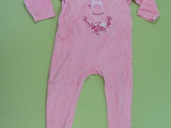 Pyjama velours rose lapin