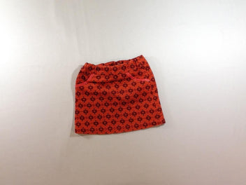Jupe rouge/orange motifs