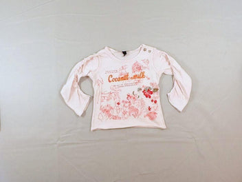 T-shirt m.l rose Coconut-milk, un peu bouloché
