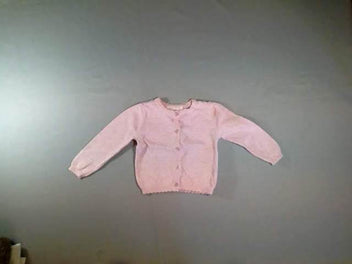 Gilet rose chiné