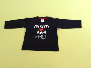 T-shirt m.l noir Mum love Dad
