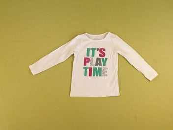 T-shirt m.l blanc « It's Play time »