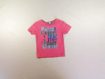 T-shirt m.c rose Paint