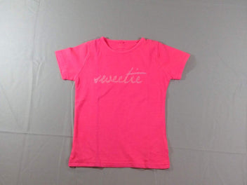 T-shirt m.c rose fluo « Sweetie »