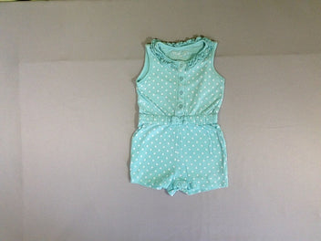 Combishort jersey s.m turquoise pois