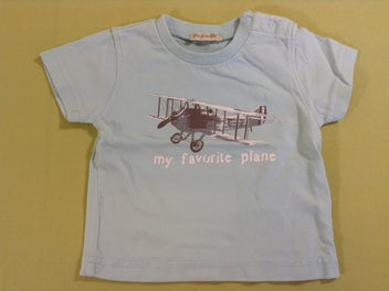 T-shirt m.c bleu avion