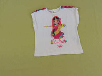 T-shirt s.m blanche indienne