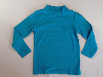 T-shirt col montant turquoise