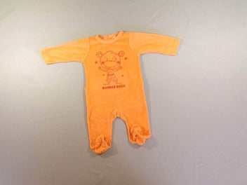 Pyjama velours orange vif Monkey smile