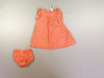 Robe m.c orange broderies + culottes