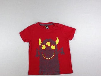 T-shirt m.c rouge monstre
