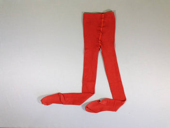 2 paires de collants orange/rouge, un peu boulochés